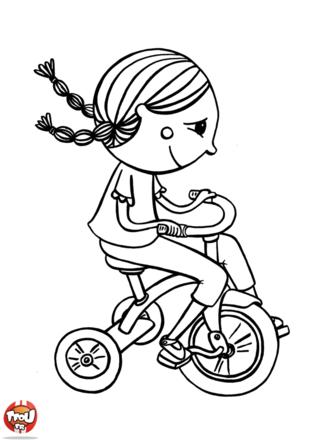 Coloriage: Vélo à 3 roues