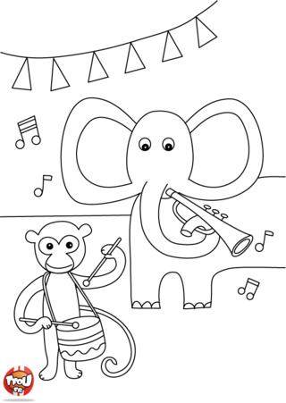Coloriage: La fête de la musique