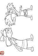 Arnold joue avec Helga