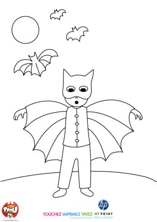 Coloriage: Déguisé en batman