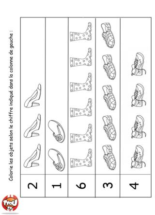Coloriage: Les chaussures