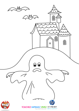 Coloriage: Le fantôme du manoir