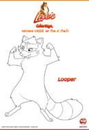 LASSIE_Coloriages_Looper le raton laveur