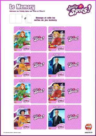 Activité : Memory Totally Spies