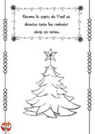 Décore le sapin et dessine les cadeaux