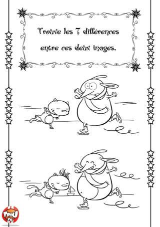Activité : Les différences de Noël. Trouve vite les 7 différences entre ces deux images. A toi de jouer !