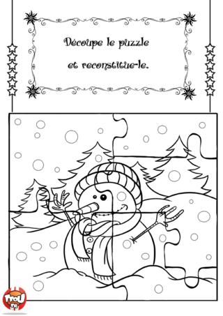 Coloriage: Puzzle de Noël 2. Imprime vite ton puzzle de Noël, découpe-le, colle-le sur un support rigide et amuse-toi à le reconstituer. Tu peux même le colorier avec toutes les couleurs de ton choix. Et si jamais tu perds une pièce, pas de soucis, il te suffit de l'imprimer de nouveau, c'est gratuit !