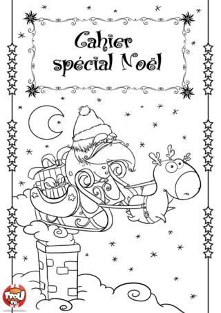 Coloriage : Cahier spécial Noël. Imprime ton cahier d'activités spécial Noël pour t'amuser pendant les vacances et décorer ta maison. Lorsque tu imprimes gratuitement ton cahier sur TFou.fr, tu gagnes des points qui te permettront ensuite de gagner des badges de tes héros préférés. Profite en c'est le moment ! Passe de bonnes fêtes de Noël avec TFou ! Colorie ton père Noël et ses rennes avec plein de jolies couleurs pour Noël ! Et offre ton beau coloriage à tes proches pour Noël.