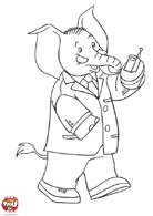 Monsieur Trompette au travail