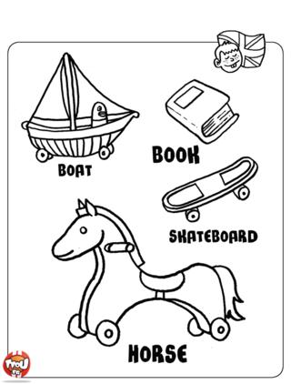 Coloriage: Les jouets1