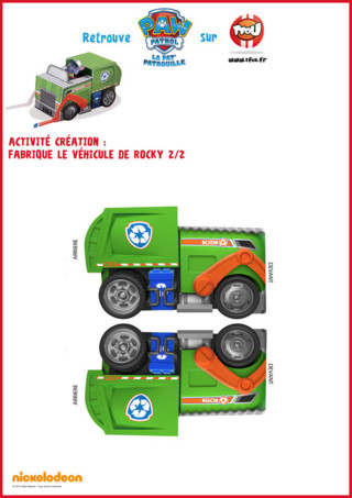 Rocky de la Pat Patrouille  Imprime vite ce magnifique camion de Rocky    Paw Patrol Toys Rocky