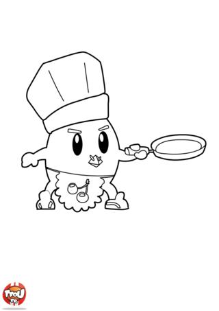 Poulbill adore les crêpes. Il aime les cuisiner et surtout les manger. Imprime et colorie le coloriage de Poulbill pour fêter la Chandeleur sur TFou.fr.