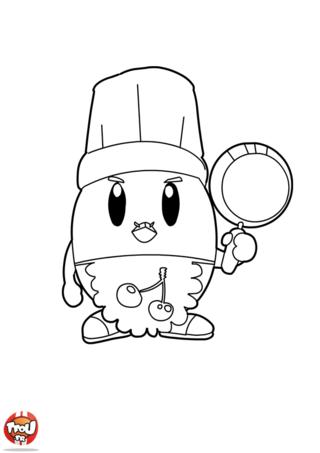 Coloriage: Poulbill, le cuisinier