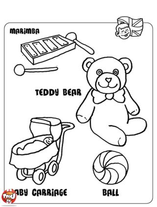 Coloriage: Les jouets5