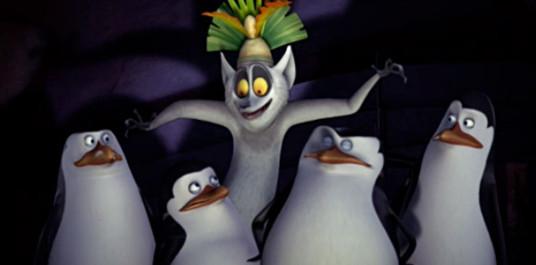 Les pingouins et Le Roi Julian