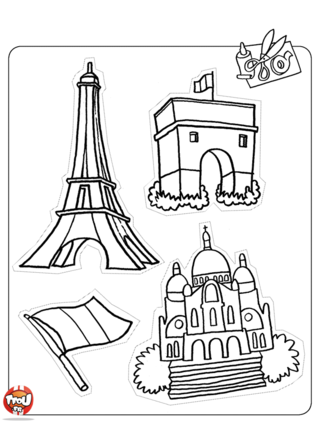 Coloriage: Paris