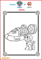 coloriage 3 zuma - paw patrol