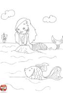 La sirène, le poisson et le bateau