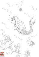 La sirène qui nage