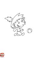 Pépin joue au ballon