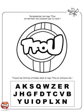 Coloriage: Logo TFOU