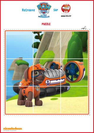 Et si tu faisais un puzzle ? Imprime et découpe vite le puzzle de Zuma de la Pat'Patrouille. Tu découvriras Zuma et son bateau aéroglisseur sur le dessin. Retrouve encore plus d'activités et de coloriages de Zuma de la Pat'Patrouille sur TFou.fr.