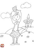 La princesse à la jupe à pois