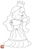 La princesse à l'écharpe
