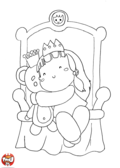 Bébé princesse et son nounours