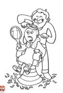 Coiffeur et enfant