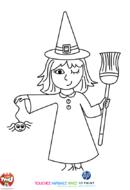 La petite sorcière et l'araignée