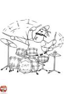 Patrick à la batterie