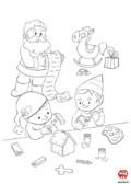 Coloriage-Noel-atelier de noel
