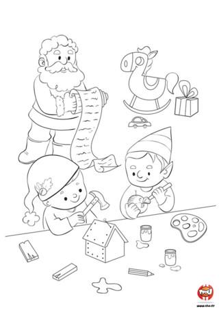 Noel approche, le père Noel et ses lutins s'affairent dans leur atelier pour fabriquer les cadeaux des enfants du monde entier...