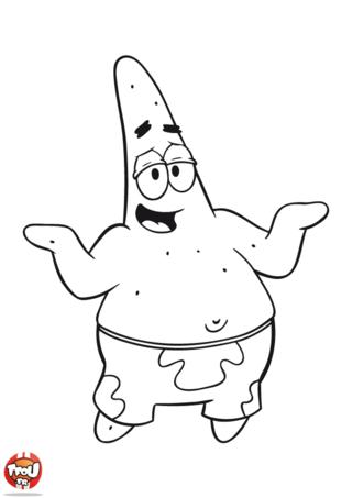 Coloriage Bob l'Eponge: Patrick l'étoile de mer