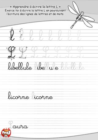 Coloriage: Le L