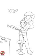 Les crêpes avec Maman