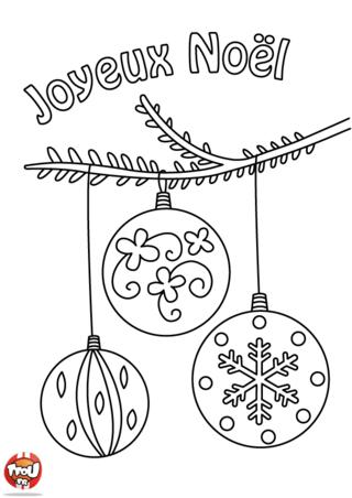 Coloriage : Oh oh oh c'est Noël ! Le père Noël va bientôt descendre part la cheminée. C'est le moment de décorer ton sapin et ta maison avec plein de décoration de Noël...