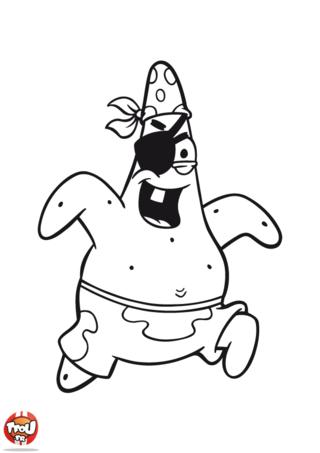 Coloriage: Patrick pirate