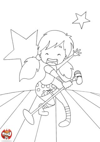 Coloriage: Rock star