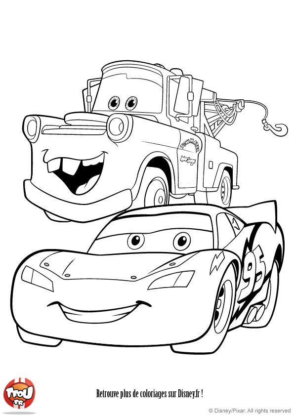 Coloriage flash mcqueen et martin my blog - Coloriage martin cars ...