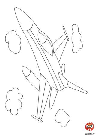 Coloriage : Avion dans les nuages. Monte à bord de ce superbe avion et tiens toi prêt à voir les plus beaux paysages de ta vie ! Entre nuage et ciel, amuse-toi à colorier ce jolie coloriage d'avion ! Imprime ton coloriage gratuitement sur TFou.fr.