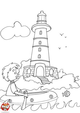 Coloriage: Le phare