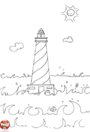 Le phare dans la mer