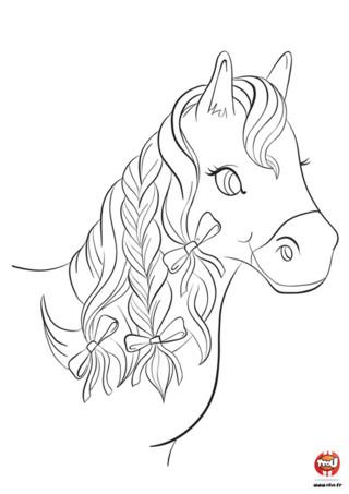coloriage cheval a imprimer coloriage cheval princesse coloriage