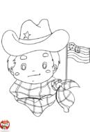 Cowboy américain
