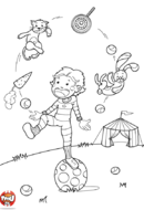 Jongleur sur ballon