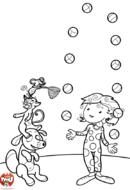 Jongleur et ses animaux