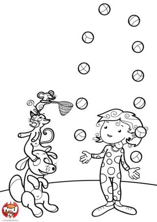 Coloriage: La jongleuse
