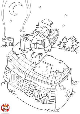 Coloriage: Distribution des cadeaux